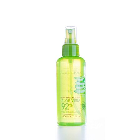 Soothing & Moisture Aloe Vera 92% Gel Mist, 150 Gram, Made with 92% California Aloe Vera Gel Extract By Nature Republic