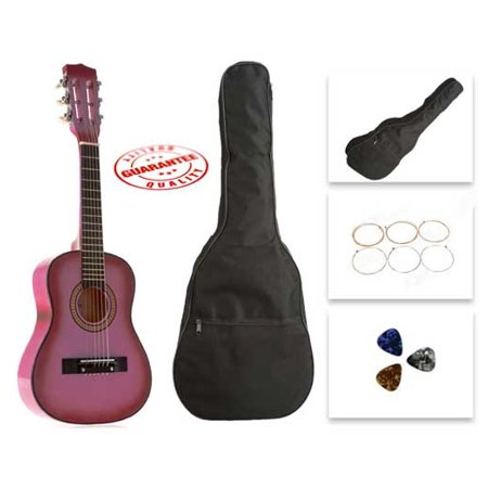 Star Kids Acoustic Toy Guitar 31 Inches Pink with Bag, Strings & Picks ()
