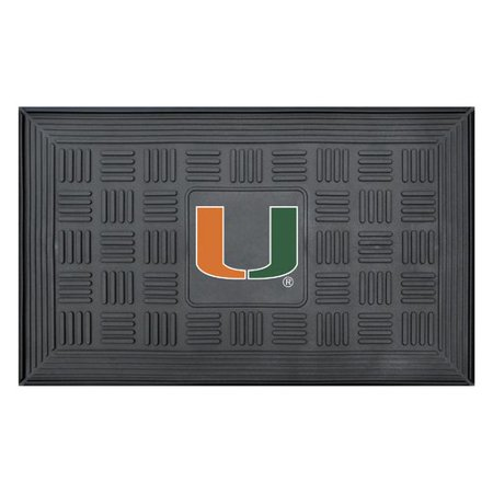 University of Miami Medallion Door - Miami Hurricanes Mat
