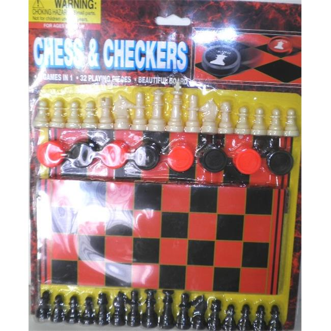 Chess and Checkers Board Game Kit Case Of 60 by DDI