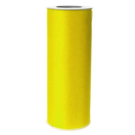 Organza Spool Roll, 6-Inch, 25 Yards, Yellow