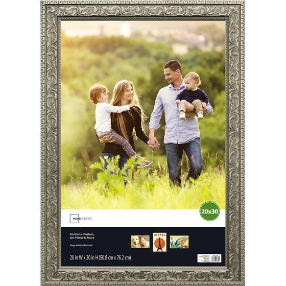 Mainstays 20x30 Silver Poster Frame Walmart