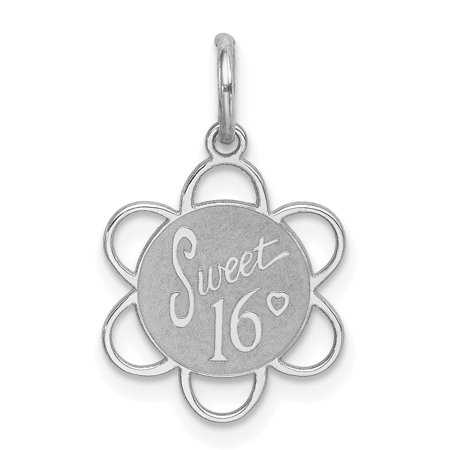 925 Sterling Silver Sweet Sixteen Girl 16 Birthday Disc Pendant Charm Necklace Special Day Gifts For Women For Her