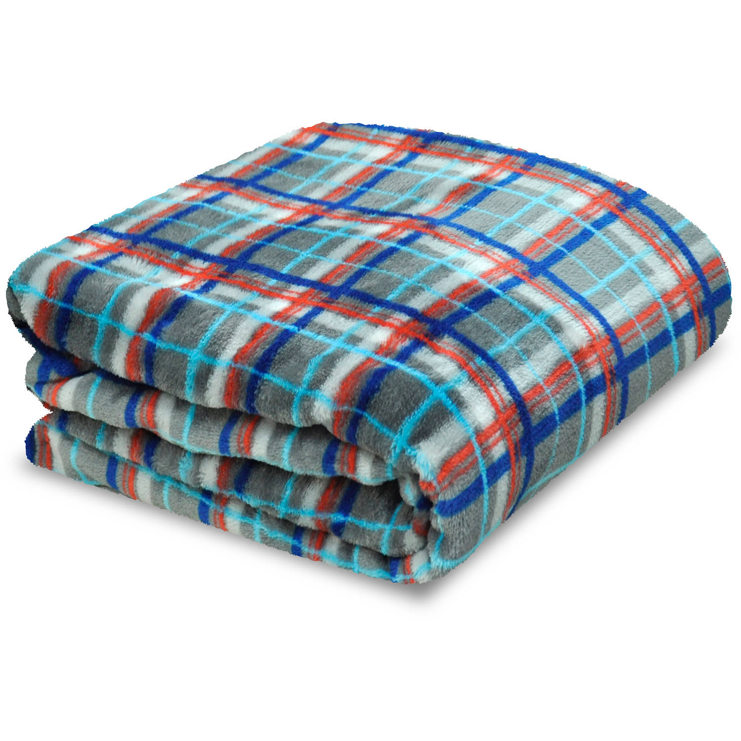 Mainstays Kids Plaid Plush Throw