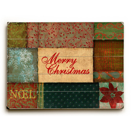 Artehouse LLC Merry Christmas Wrapping Wooden Textual Art