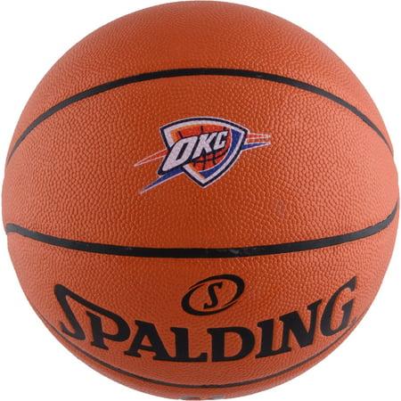Oklahoma City Thunder Spalding Official Size Logo Basketball