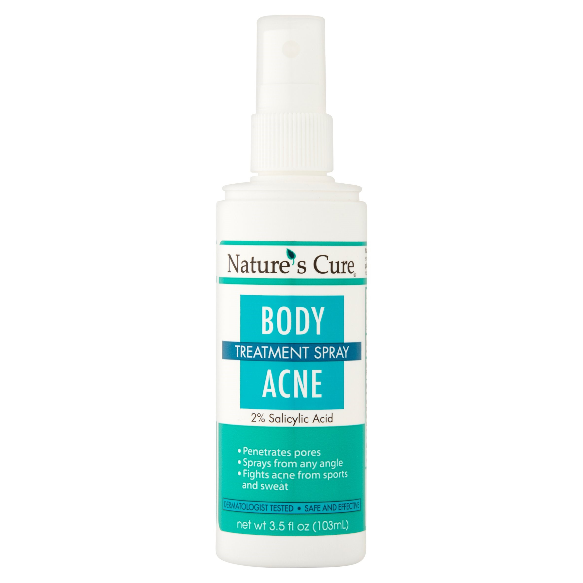 Nature S Cure Body Acne Treatment Spray 3 5 Fl Oz Walmart Com Walmart Com