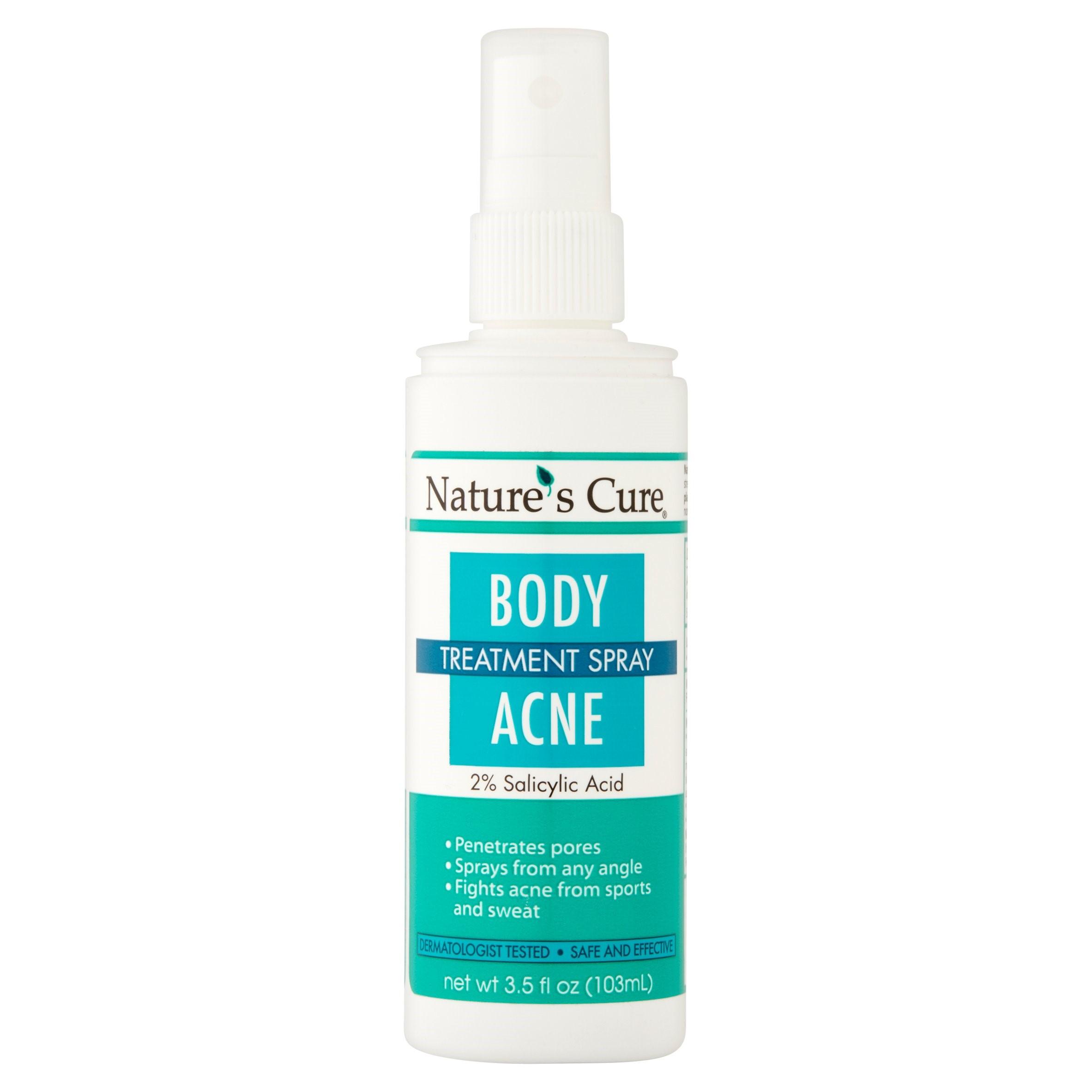 Nature's Cure Body Acne Treatment Spray, 3.5 fl oz