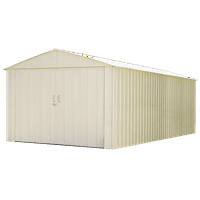 """Commander, 10x25, Hot Dipped Galvanized Steel, Eggshell, High Gable, 71.3"""" Wall Height, Extra Wide Swing Doors"""