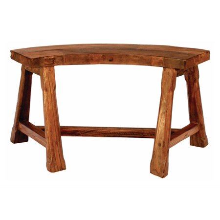 Fire Pit SemiCircular Bench In Teak Walmartcom - Teak fire pit table