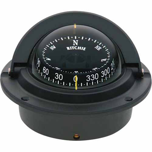 Ritchie F-83 Voyager Flush Mount CombiDial Compass, Black with Black Dial by Generic