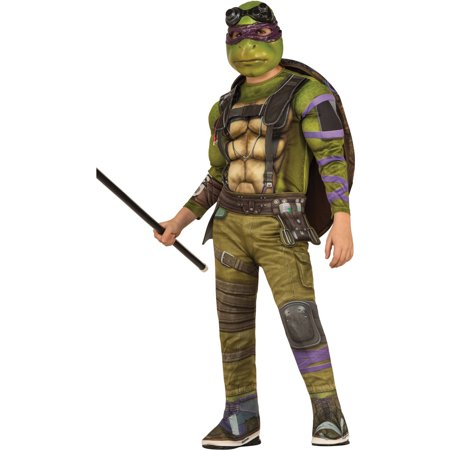 teenage mutant ninja turtle donatello boy deluxe muscle chest halloween costume - Halloween Muscle