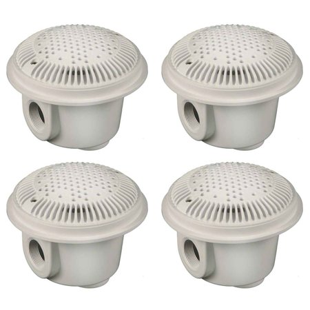 "Hayward WG1048AVPAK2 1.5"" Pool Bottom Main Drain Suction Outlets (4 Pack)"