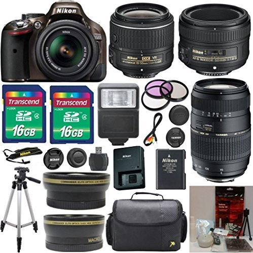 Nikon D5200 24.1 MP CMOS Bronze Digital SLR with 18-55mm ...