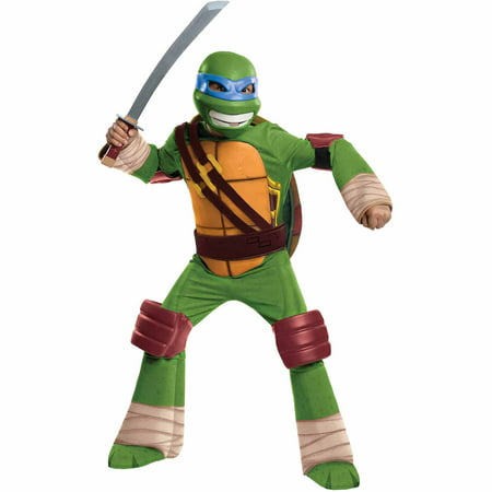 Teenage Mutant Ninja Turtles Leonardo Deluxe Child Halloween Costume](Ninja Costume Makeup)
