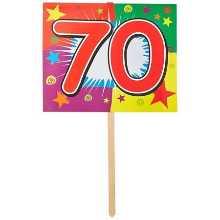 70 Birthday Yard Sign Party Accessory (1 count), This item is a great value! By Beistle - Birthday Items