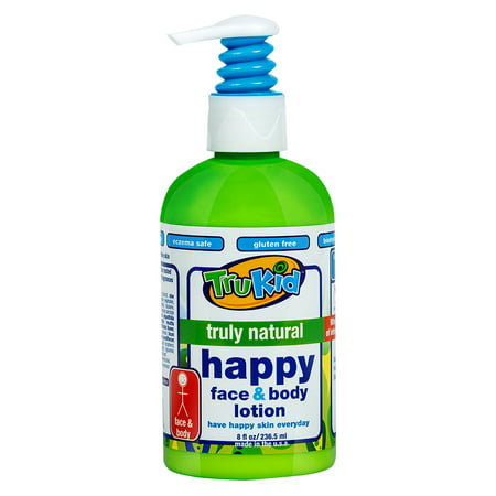 TruKid Truly Natural Happy Face and Body Lotion, 8oz](Fake Body)
