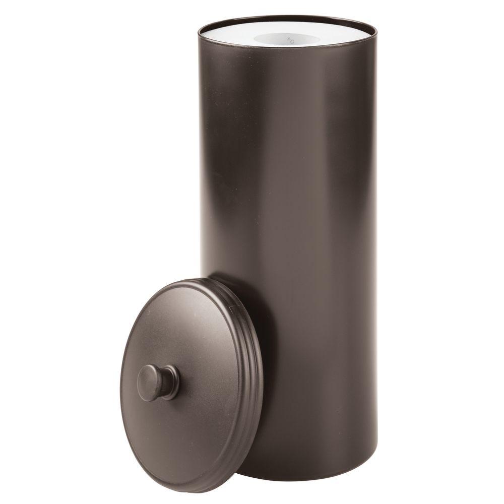 Interdesign Kent Bathware Free Standing Toilet Paper Roll Holder For Bathroom Storage Bronze Walmart Com Walmart Com