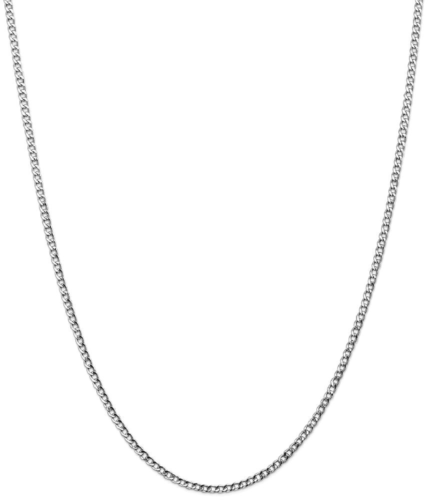 ICE CARATS ICE CARATS 14kt White Gold 2.5mm Curb Cuban Link Chain Necklace 24 Inch Pendant Charm Fine Jewelry Ideal... by IceCarats