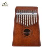 GECKO K10S Portable 10-Key Thumb Piano Kalimba Mbira Mahogany Wood Musical Instrument Gift for Girls Boys Music Lovers