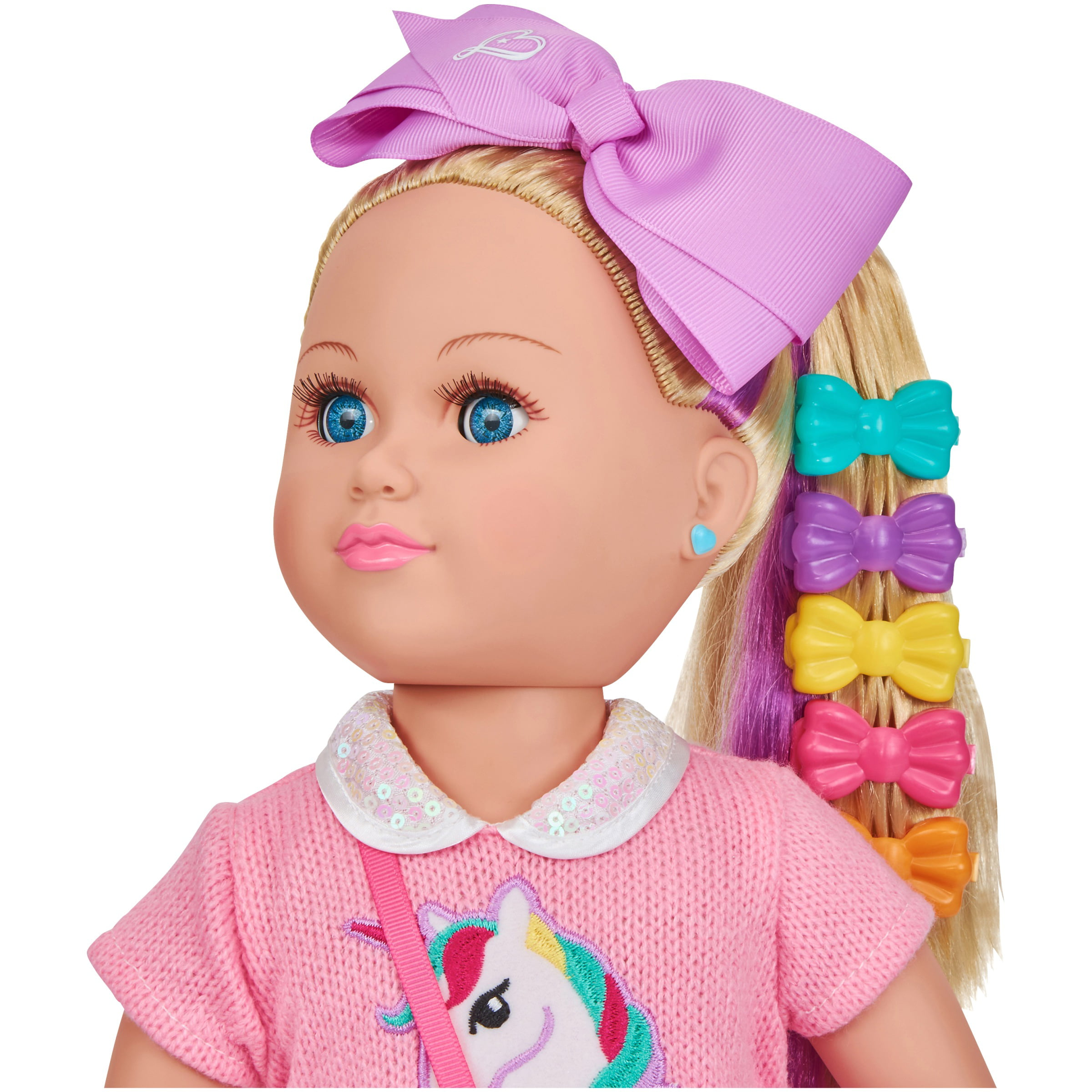 """JoJo Siwa My Life Poseable Doll 18/"""" AND JoJo 9-Piece OUTFIT DOLL Clothes  SET"""