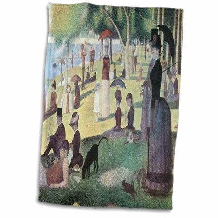 3dRose A Sunday Afternoon on the Island of La Grande Jatte by Georges-Pierre Seurat - Towel, 15 by 22-inch ()