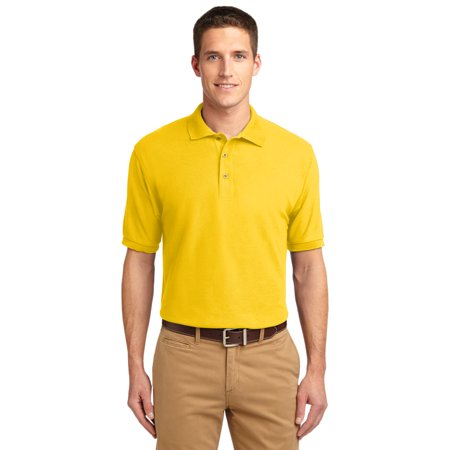 Port Authority Men Silk Touch Polo Shirt Style  K500   Sunflower Yellow   Small