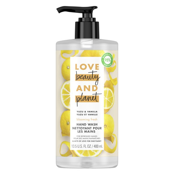 Love Beauty And Planet Blooming Fresh Hand Soap Yuzu & Vanilla 13.5 oz