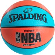 "Spalding NBA Varsity Neon Blue Salmon 29.5"" Basketball by Spalding"