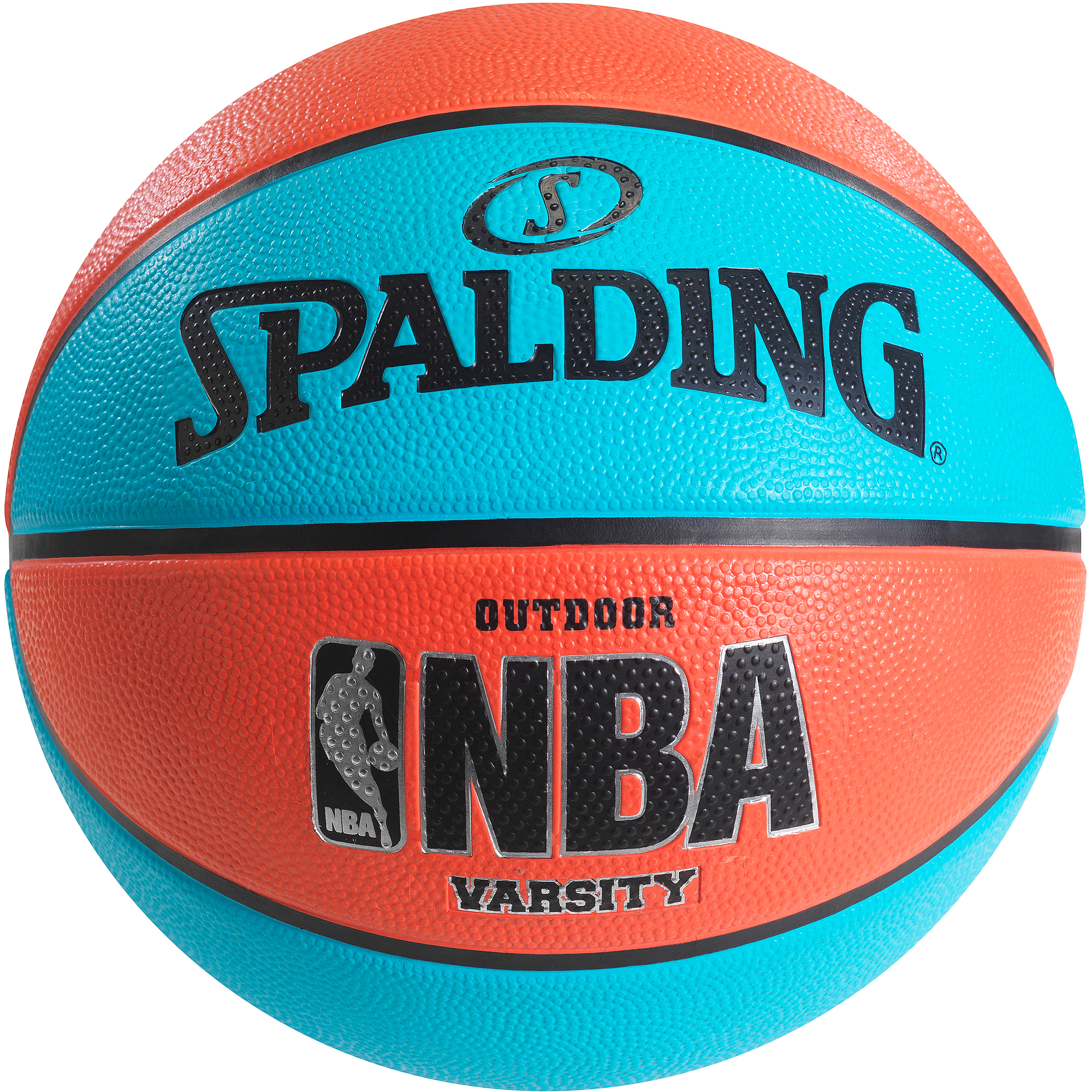 "Spalding NBA Varsity Neon Blue/Salmon 29.5"" Basketball"