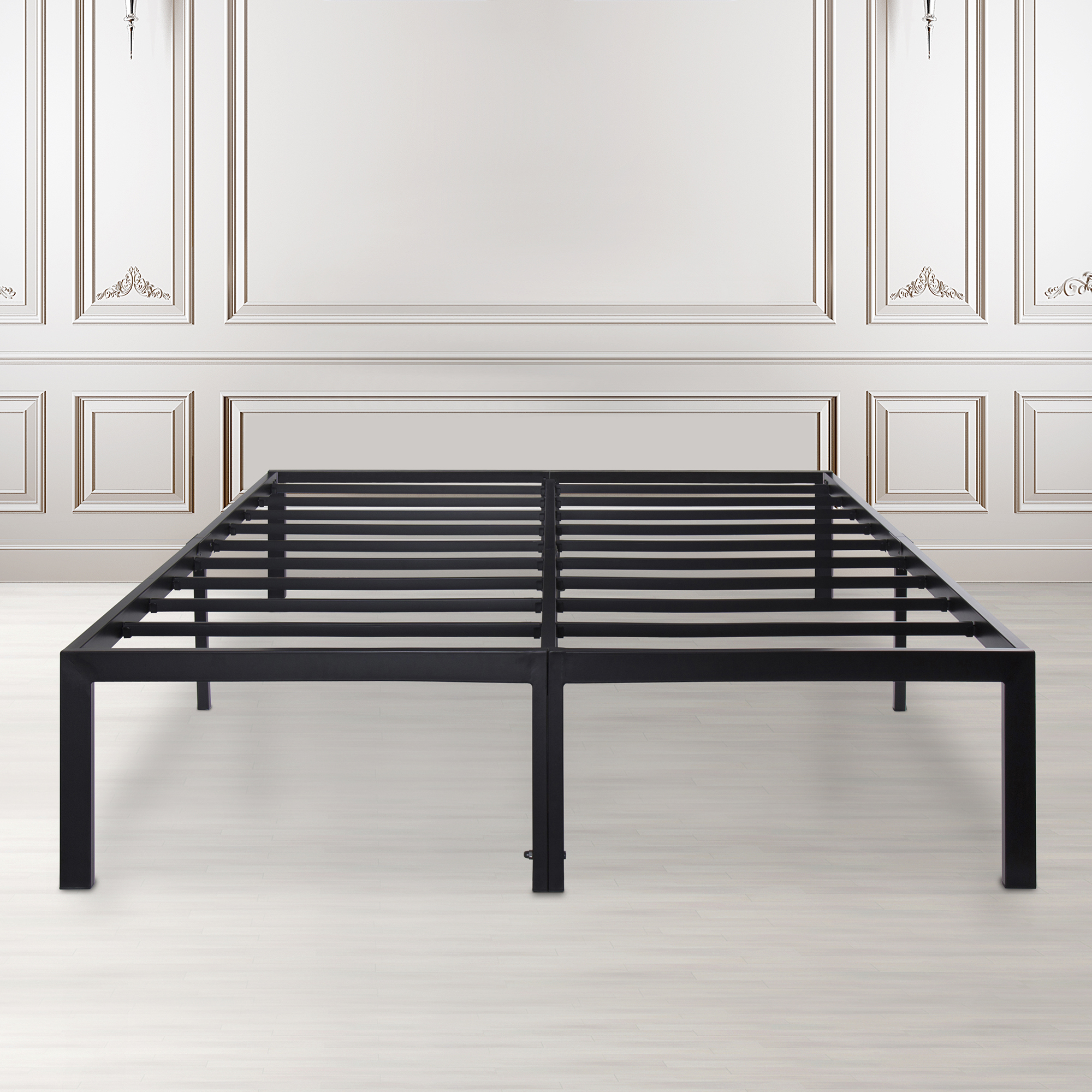 GranRest 14'' Dura Metal Bed Frame with Non-Slip Feature,Queen