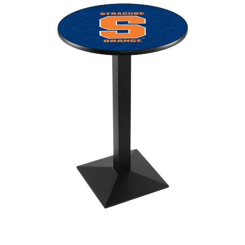 NCAA Pub Table by Holland Bar Stool, Black - Syracuse University, 36'' - L217