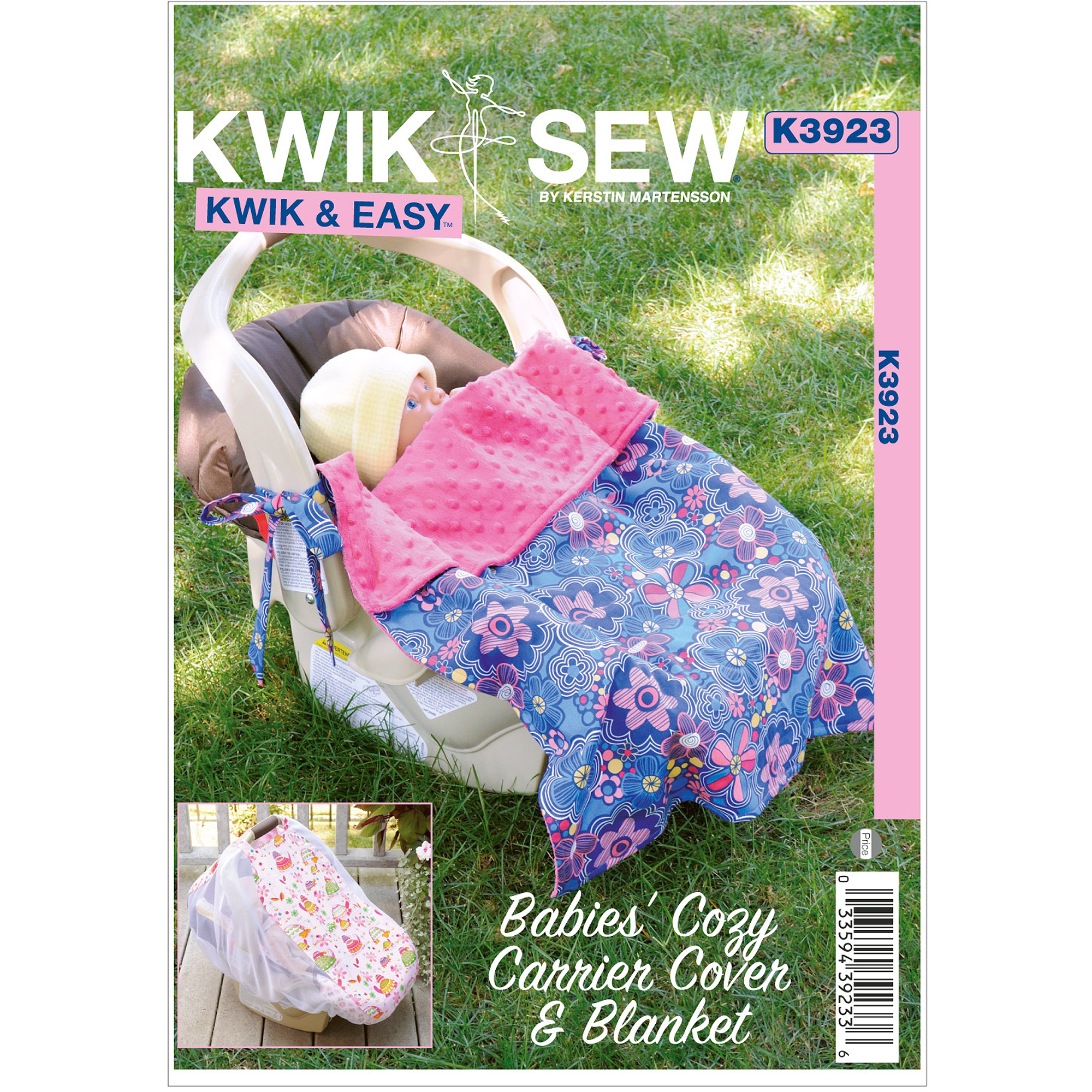 Kwik Sew Pattern Babies' Cozy Carrier Cover and Blanket