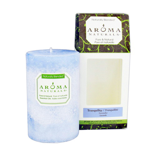 Aroma Naturals Naturally Blended Pillar Candle, 2.5 X 4 Inches - 1 Ea