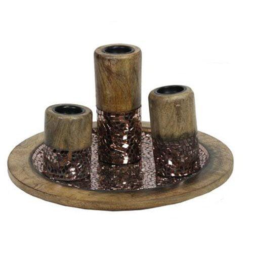 Bloomsbury Market 4 Piece Ceramic Candlestick Set