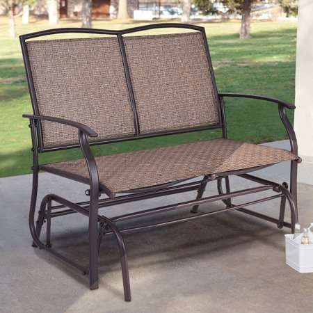 Retro Metal Double Glider - Costway Patio Glider Rocking Bench Double 2 Person Chair Loveseat Armchair Backyard