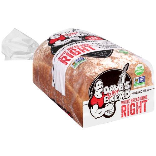 Dave's Killer Bread White Bread Done Right Organic Bread, 24oz