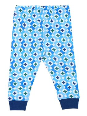 Organic Cotton Baby Long Johns - Navy Prism Print 12m