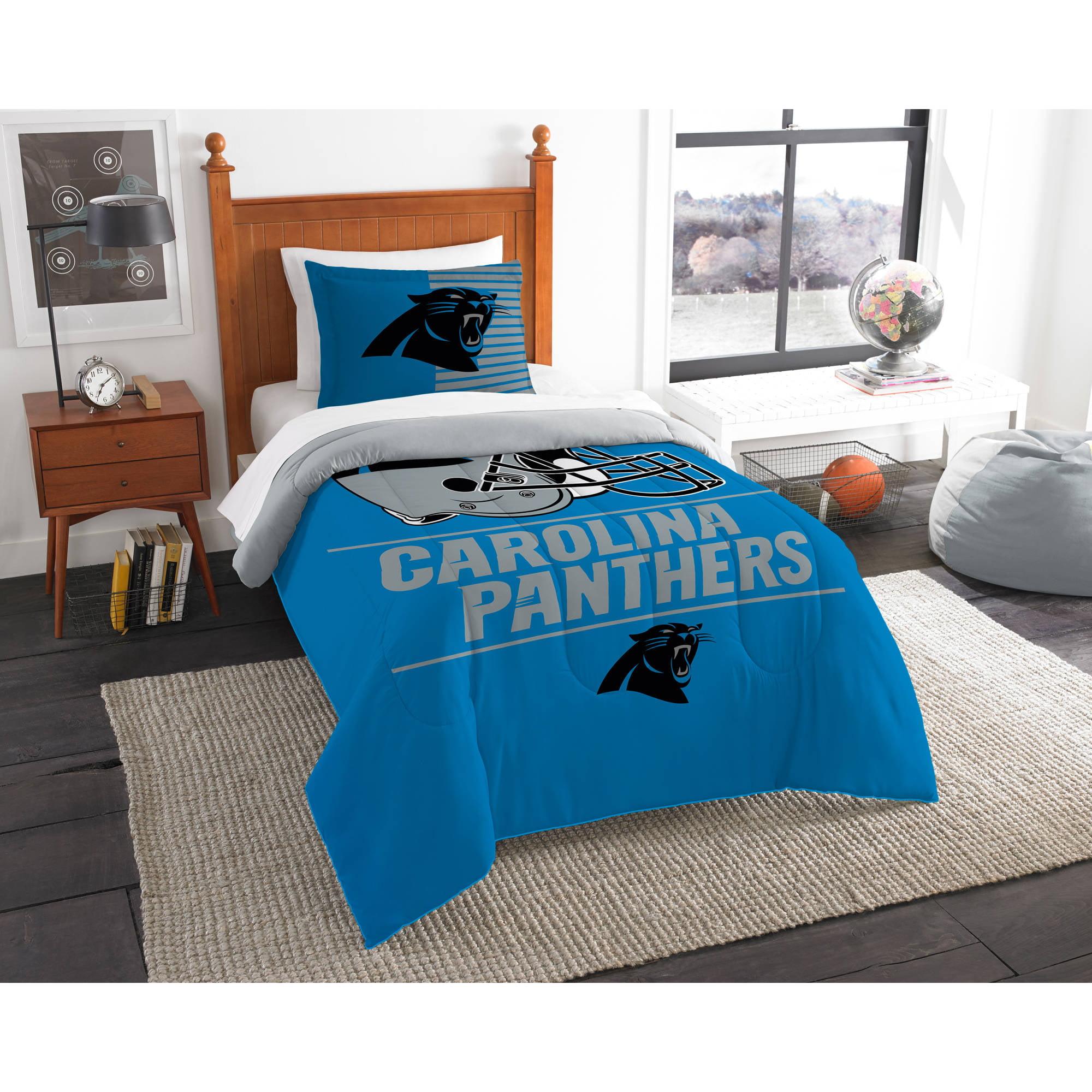 "NFL Carolina Panthers ""Draft"" Bedding Comforter Set"