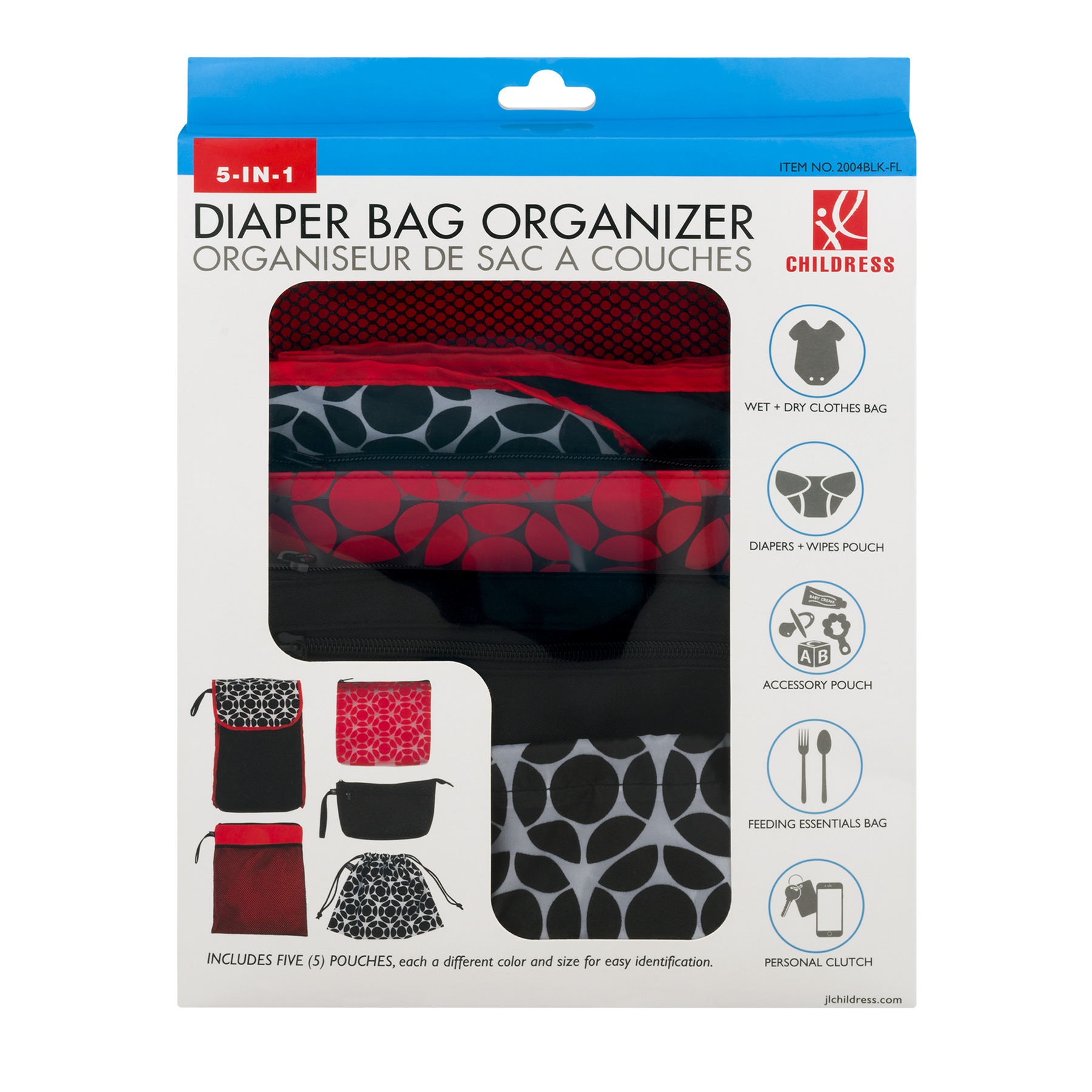 Childress 5-IN-1 Diaper Bag Organizer, 5.0 CT