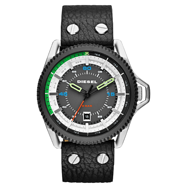 Diesel Men's Rollcage Watch Quartz Mineral Crystal DZ1717