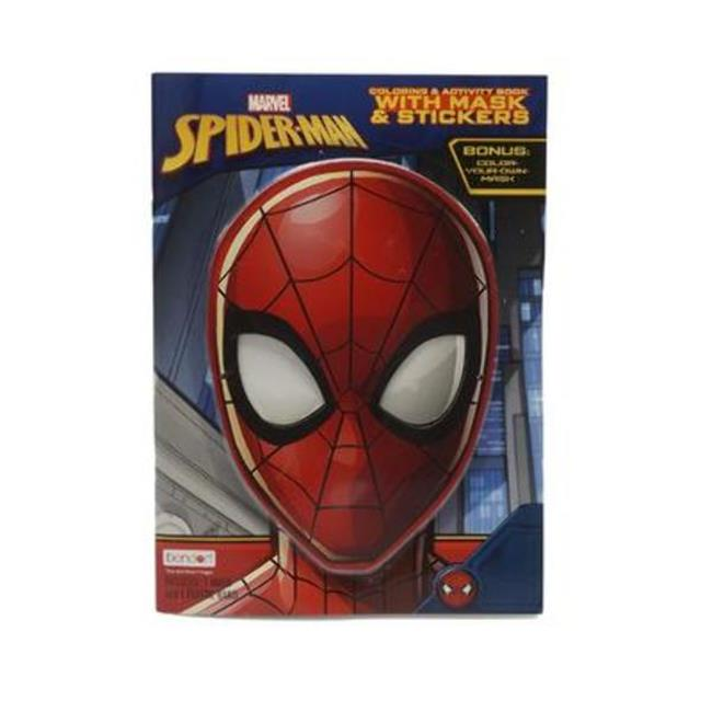 Marvel Spiderman with Mask & Stickers Coloring Book #44 ...