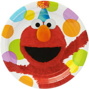 Elmo Party Paper Round Plate, 9 in, 8ct