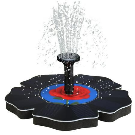 Rose Solar Power Pump, Bird Bath Fountain Water Floating