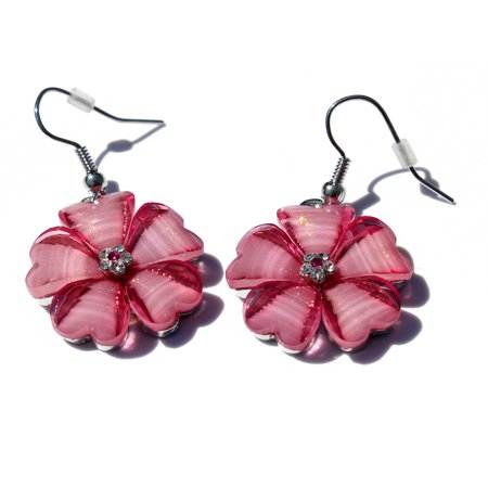 Women's Fashion Hawaii Hibiscus Flower (Light Sapphire Earrings)