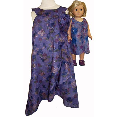 Matching Girl and Doll Clothes Elegant Dress Size 12 1/2 for $<!---->