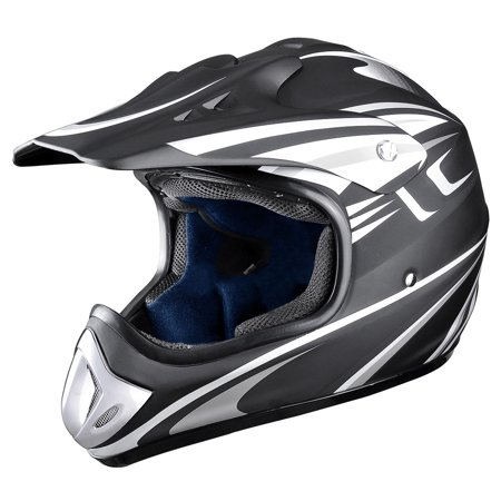 - AHR DOT Full Face Motorcycle Helmet Motocross Off-Road Dirt Bike ATV M/L/XL Adult