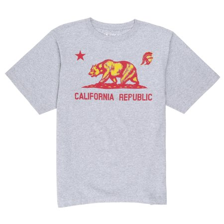 NCAA USC Trojans Men's Cali Republic Short Sleeve Tee - Usc Trojans Mini Football Helmet