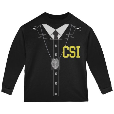 Halloween Crime Scene Investigator Costume Black Toddler Long Sleeve - Halloween Hospital Scene