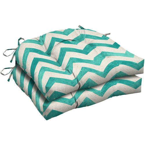 Mainstays Outdoor Patio Wicker Seat Cushion, Set of 2